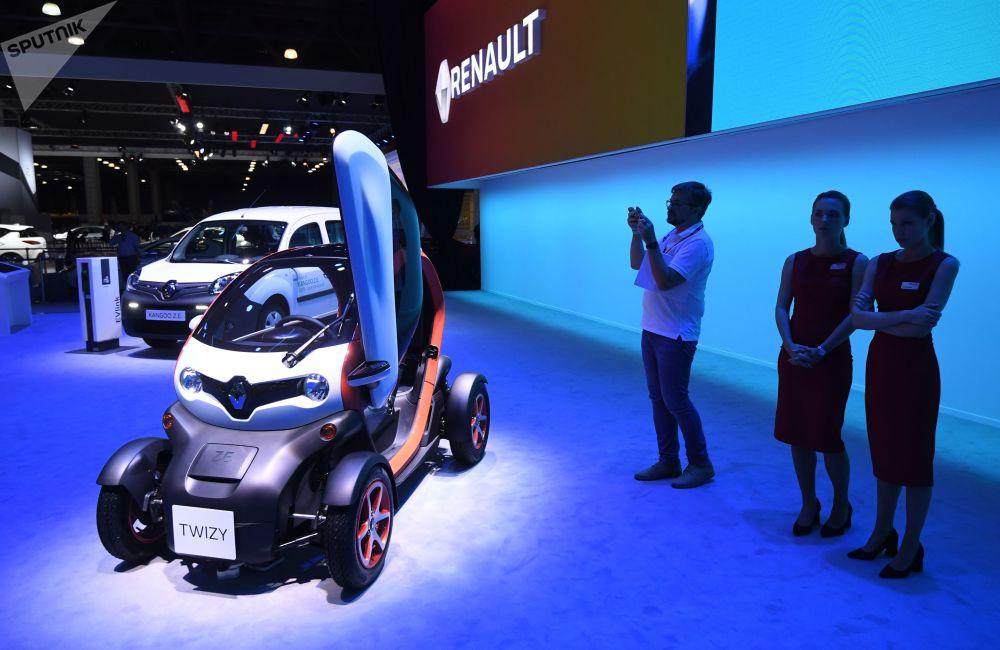 Renault Twizy na Międzynarodowym Salonie Samochodowym w Moskwie