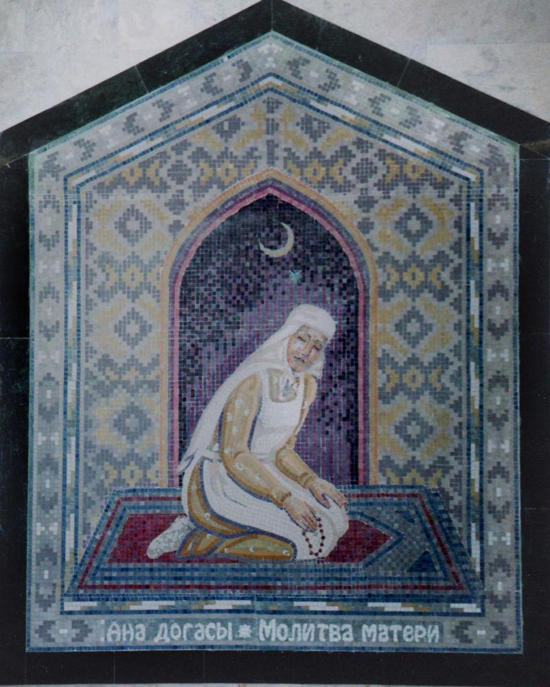 Mozaika Modlitwa Matki na stacji metra Plac Tukaja w Kazaniu