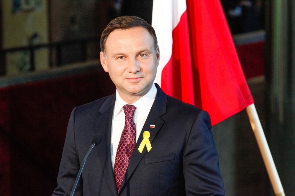 Prezydent Polski Andrzej Duda podczas pierwszej wizyty zagranicznej