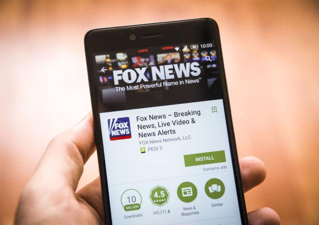 Aplikacja Fox News na ekranie smartfona