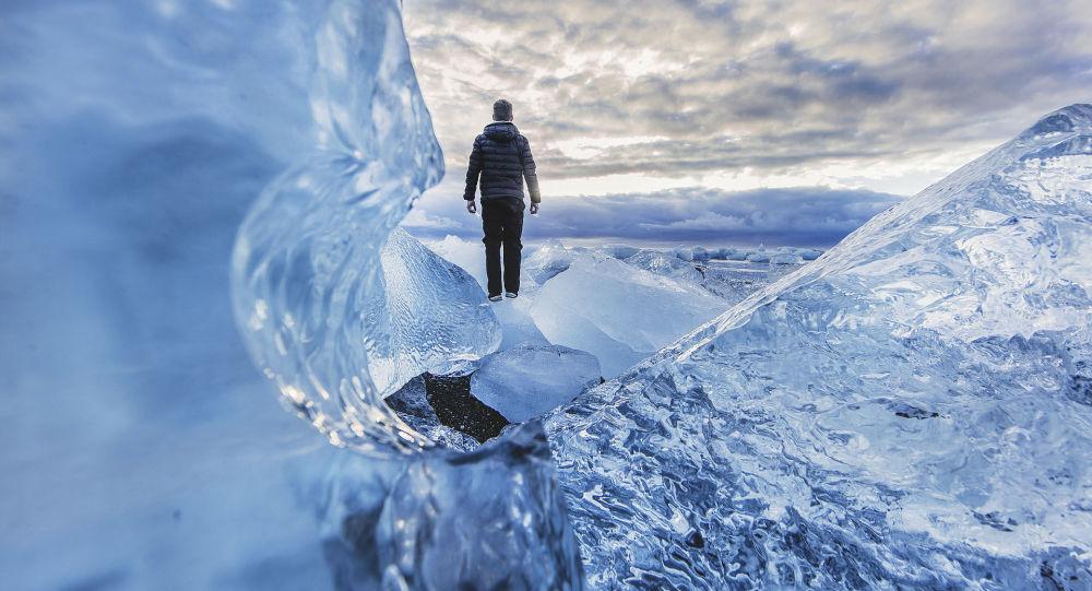 Pejzaż lodowy