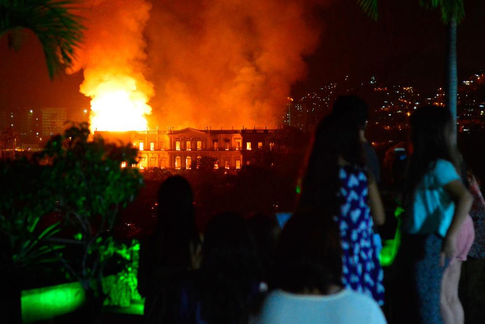 Pożar w muzeum w Brazylii
