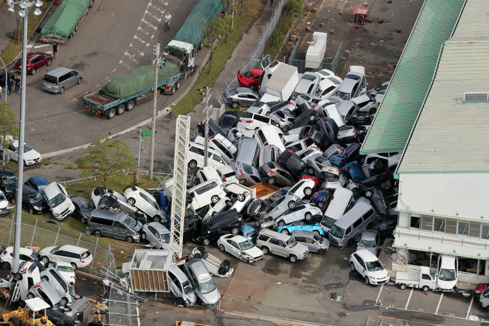 Tajfun Jebi w Japonii