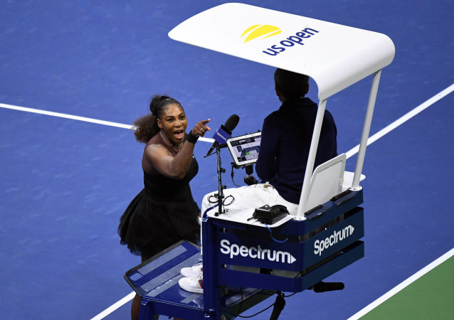 Serena Williams podczas finału US Open