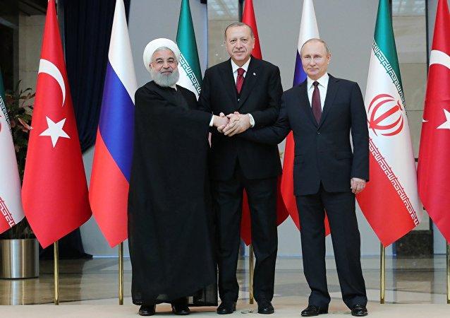 Prezydenci Iranu, Rosji i Turcji