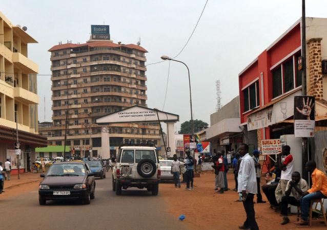 Jedna z ulic Bangui, Republika Środkowoafrykańska