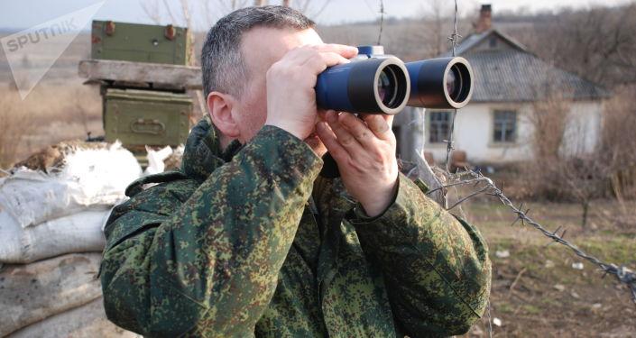Miejscowość Żelobok na linii styku w Donbasie
