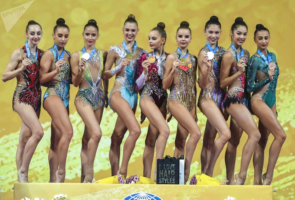 Ceremonia wręczenia nagród na Mistrzostwach Świata w Gimnastyce Artystycznej w 2018 roku w Sofii