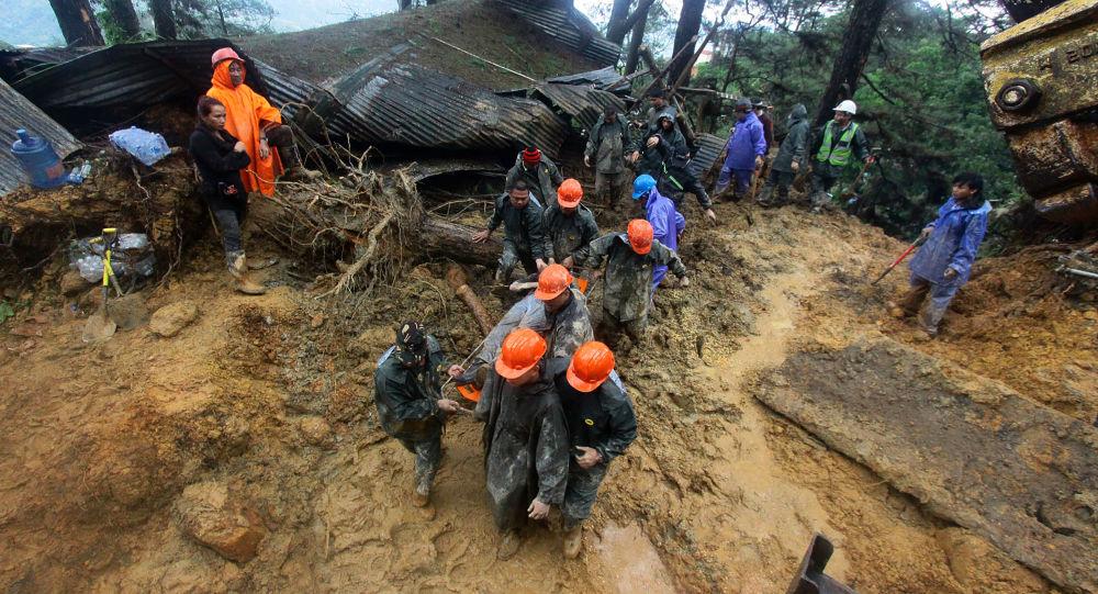 Tajfun Mangkhut, akcja ratownicza na Filipinach