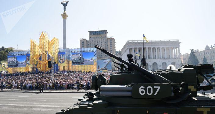 Defilada wojskowa w Kijowie z okazji Dnia Niepodległości Ukrainy