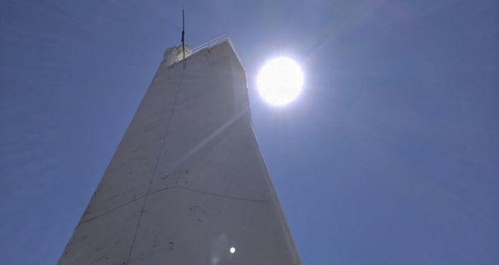 Obserwatorium do badania plam słonecznych w Sacramento Peak Mount w Nowym Meksyku
