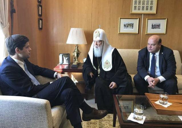 Zwierzchnik Ukraińskiego Kościoła Prawosławnego Patriarchatu Kijowskiego Filaret złożył oficjalną wizytę w amerykańskim Departamencie Stanu