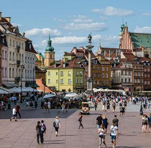 Plac Zamkowy w Warszawie.