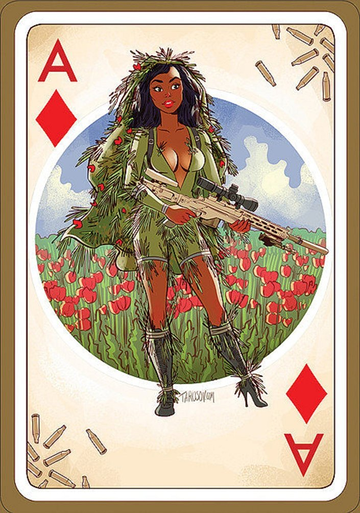 Karty do gry, zaprojektowane przez Andrieja Tarusowa