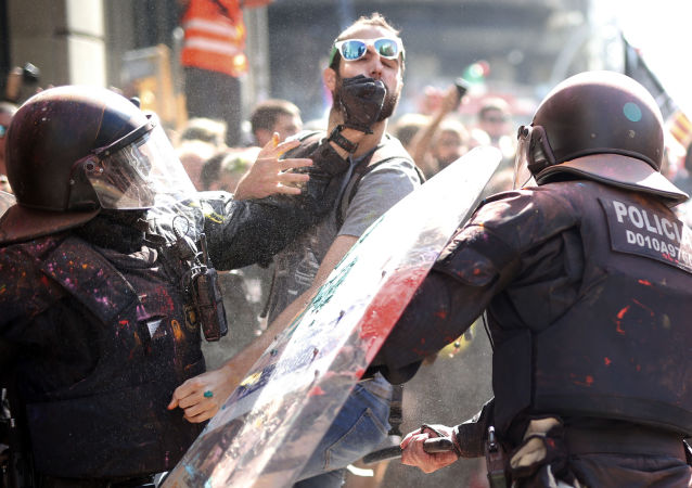 Starcia w Barcelonie
