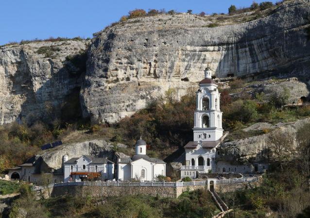 Klasztor prawosławny na Krymie