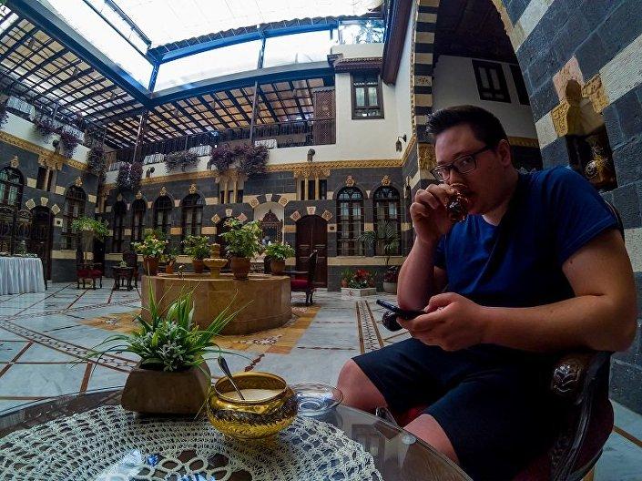 Jorgo w jednym z hotelów w Damaszku