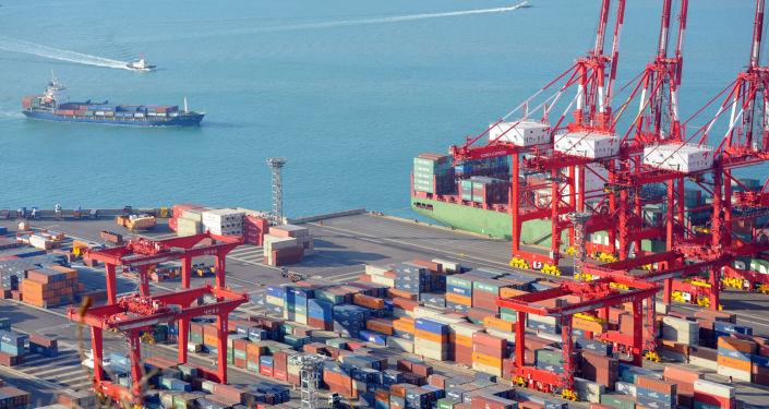 Port w Pusanie, Korea Południowa