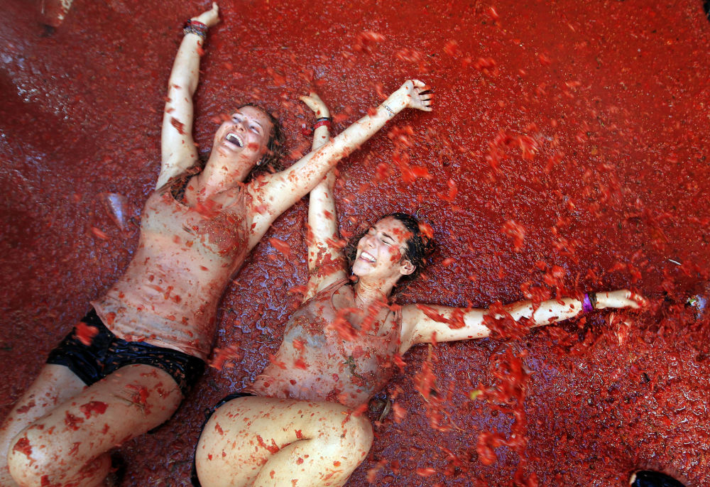 La Tomatina - wielka bitwa na pomidory