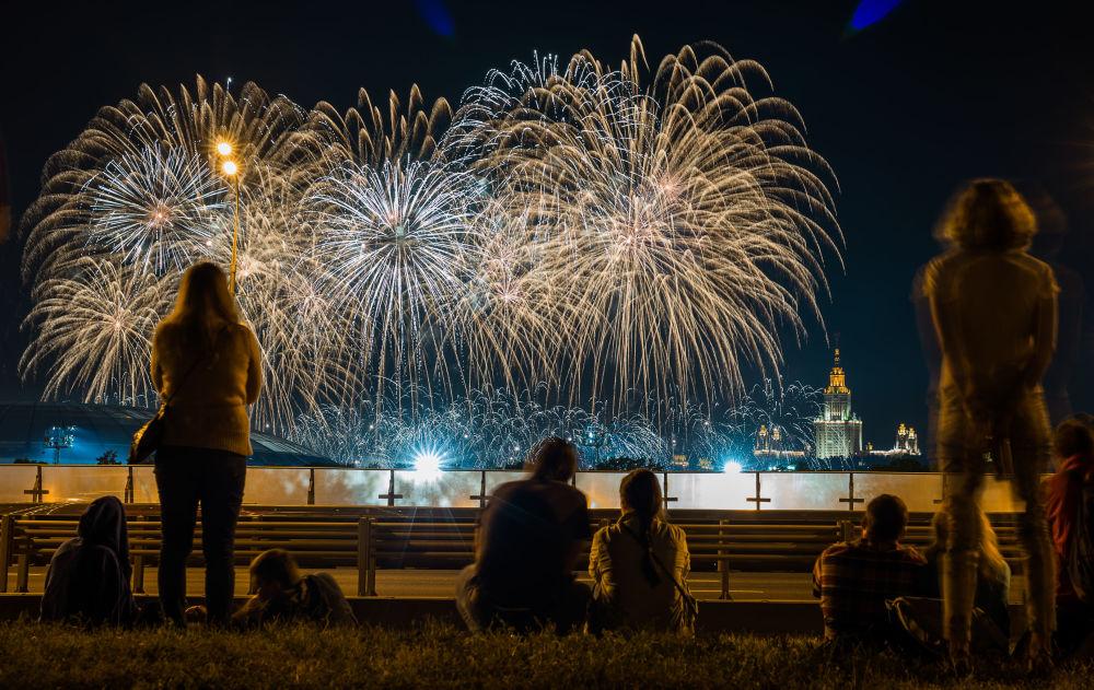 Międzynarodowy festiwal fajerwerków w Moskwie