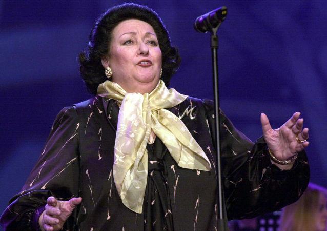 Śpiewaczka Montserrat Caballe