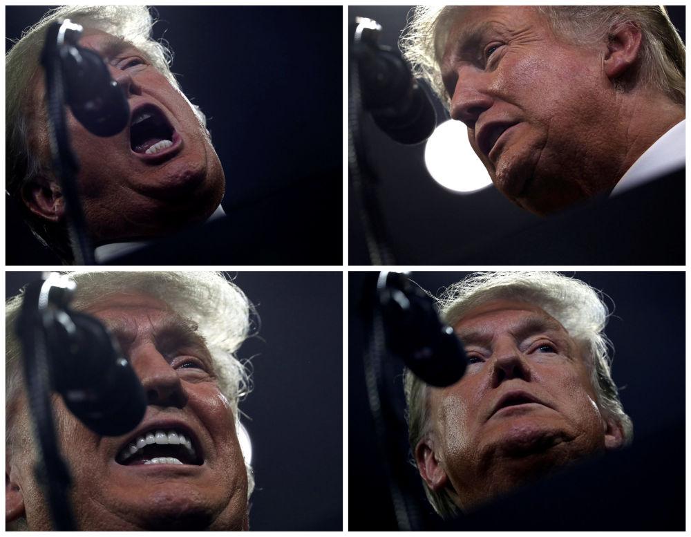 Donald Trump przemawia do zwolenników podczas Make America Great Again Rally w USA