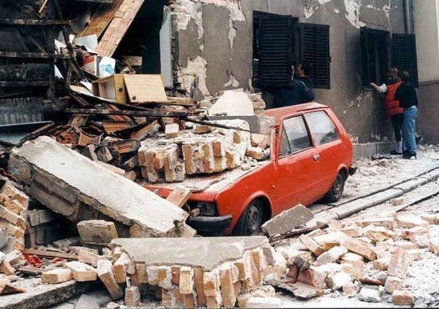 Belgrad po bombardowaniu NATO