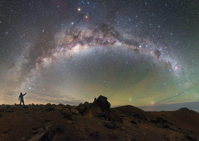 Droga Mleczna, na pustyni Atakama