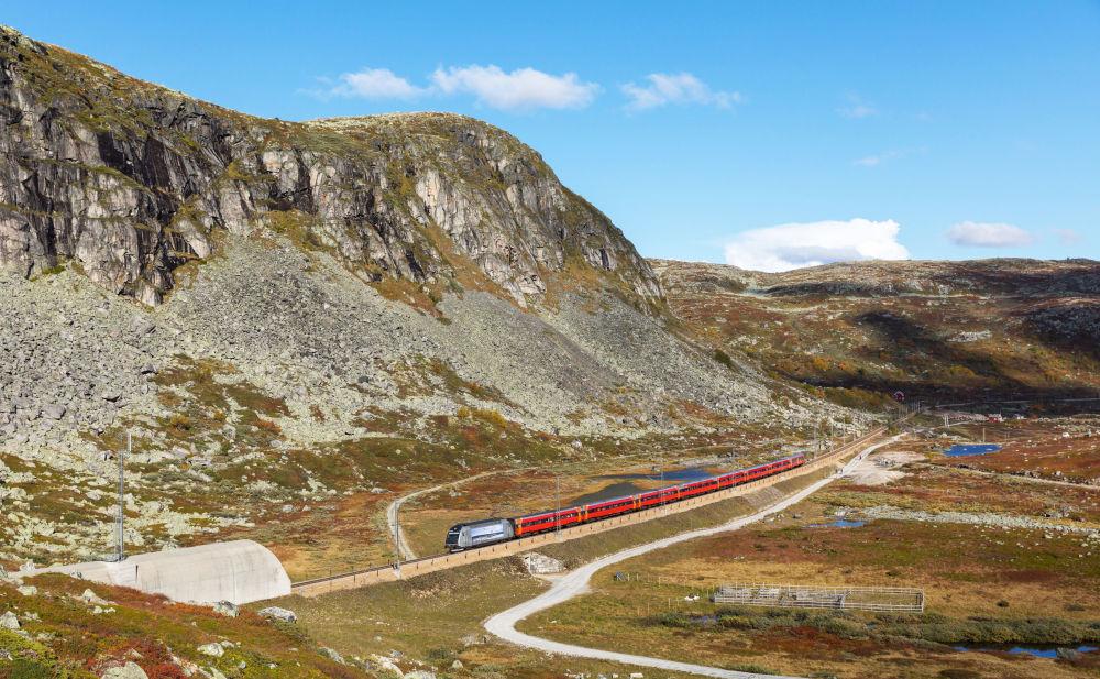 Trasa kolejowa łącząca Oslo i Bergen w Norwegii