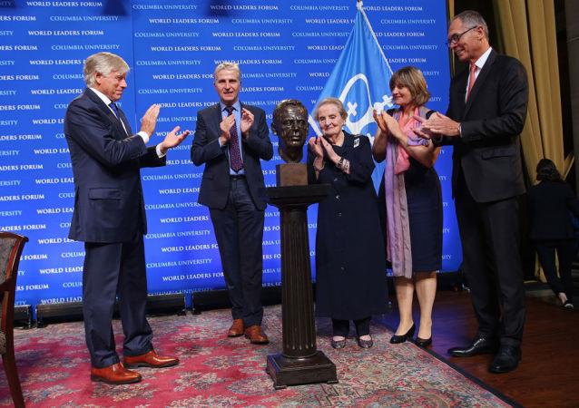 Odsłonięcie popiersia byłego prezydenta Czechosłowacji i Czech Vaclava Havla na Uniwersytecie Columbia w Nowym Jorku