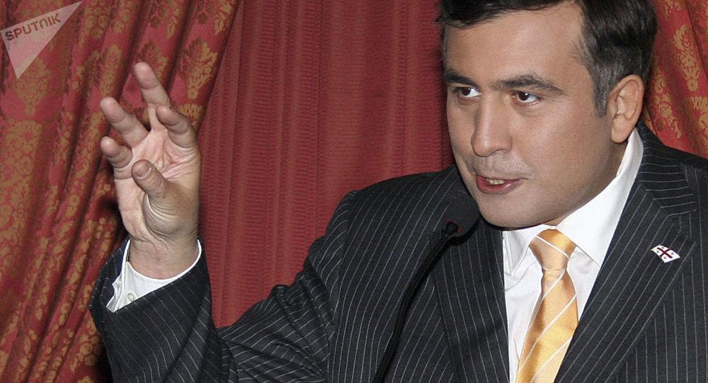 Prezydent Gruzji Micheil Saakaszwili. Zdjęcie archiwalne