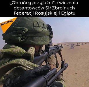"""""""Obrońcy przyjaźni"""": ćwiczenia desantowców Sił Zbrojnych Federacji Rosyjskiej i Egiptu"""