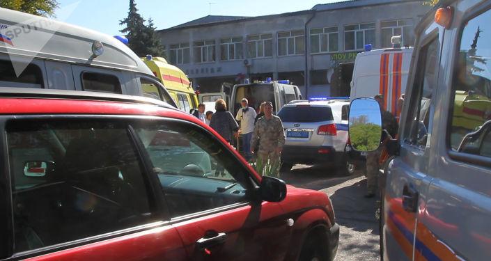 Szkoła wyższa w Kerczu, gdzie doszło do zamachu
