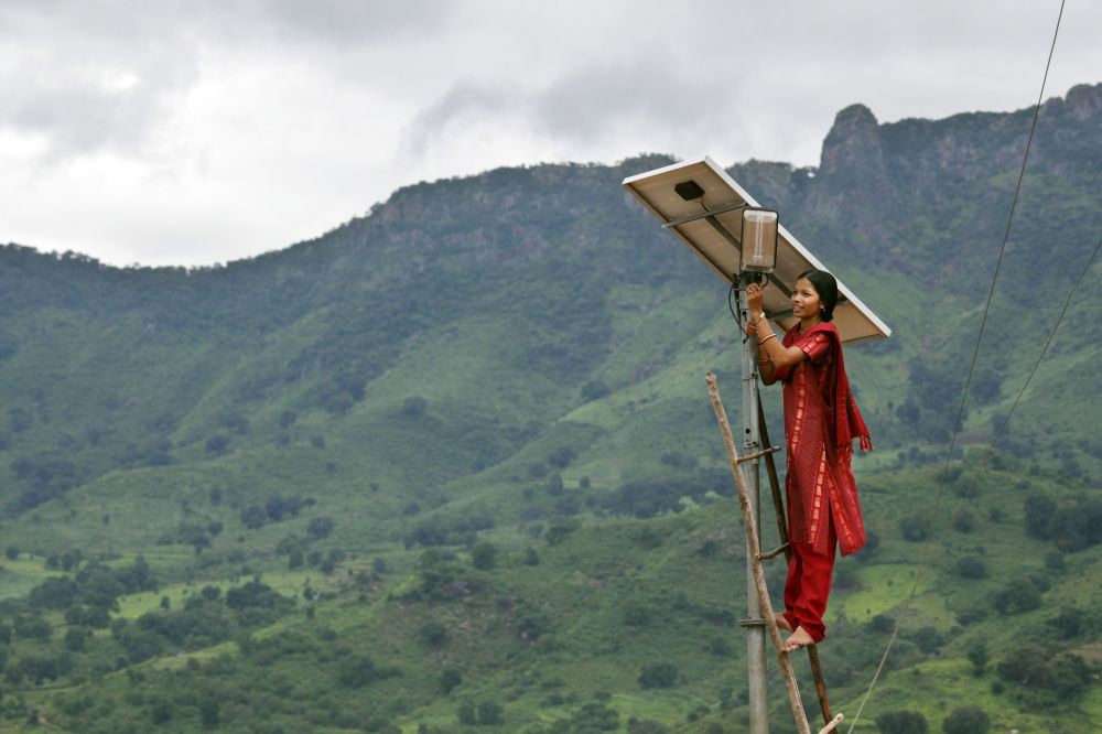Wiejska kobieta w Indiach