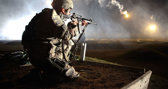 Amerykański żołnierz podczas ćwiczeń