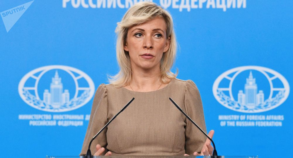 Rzeczniczka ministerstwa spraw zagranicznych Rosji Maria Zacharowa podczas briefingu