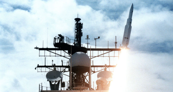 Start rakiety z pokładu okrętu Vincennes