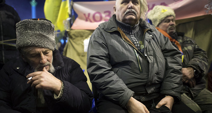 Zwolennicy eurointegracji w Kijowie