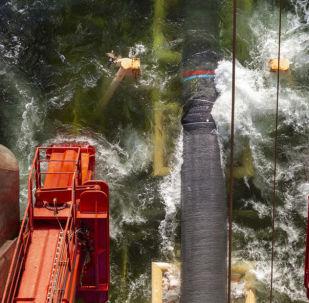 Układanie gazociągu Nord Stream 2 w Zatoce Fińskiej