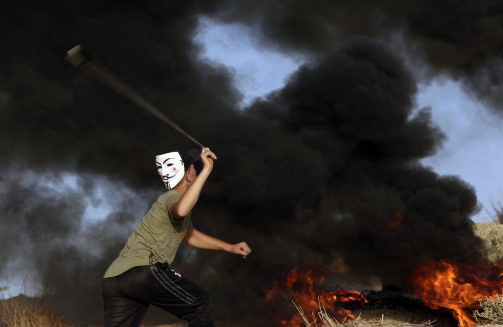 Protesty na granicy Strefy Gaza i Izraela