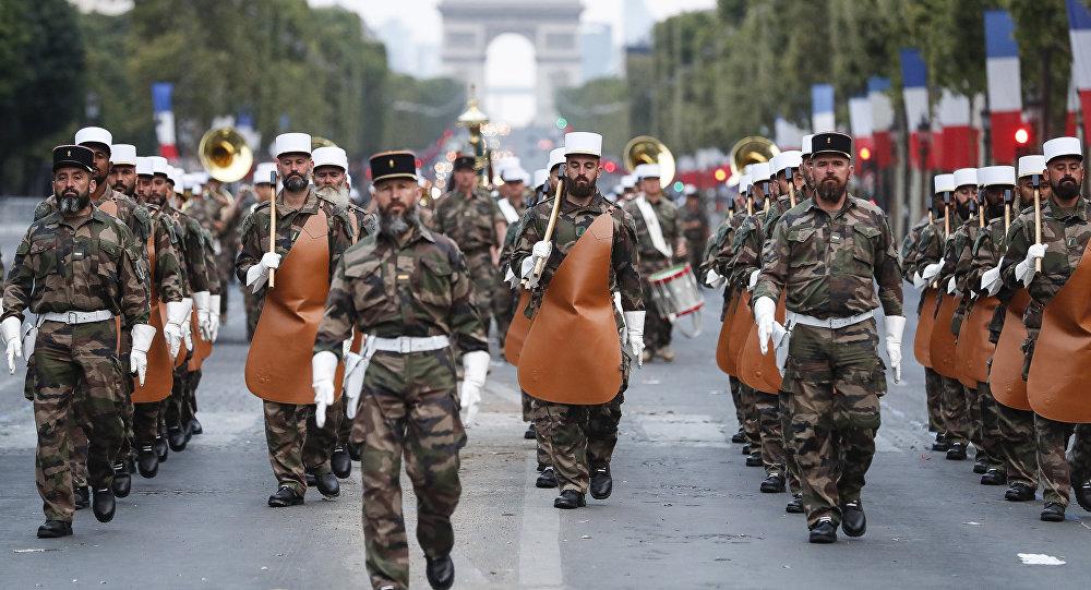 Żołnierze legii cudzoziemskiej, Paryż 2018
