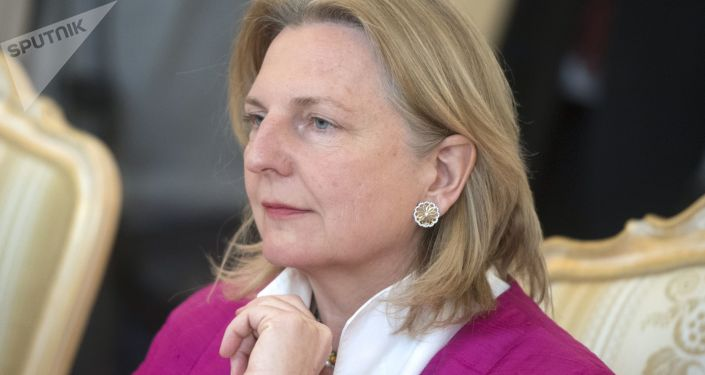 Minister spraw zagranicznych Austrii Karin Kneissl. Zdjęcie archiwalne