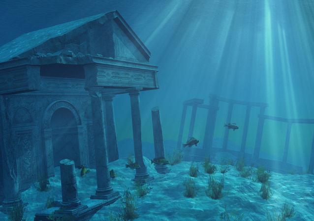 Starożytne ruiny pod wodą