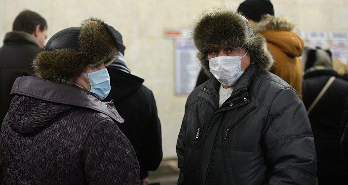 Mężczyźni walczą z epidemią grypy