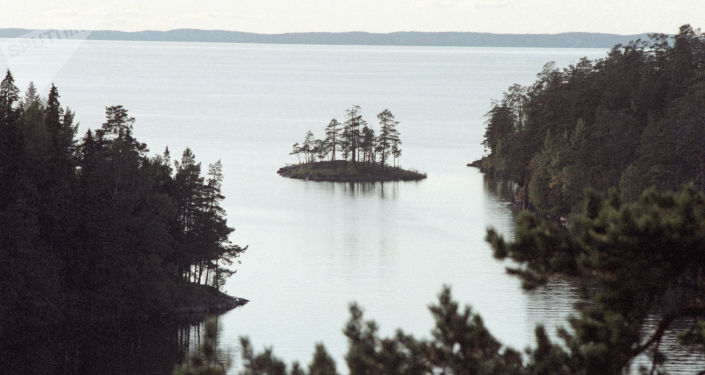 Widok na Jezioro Ładoga