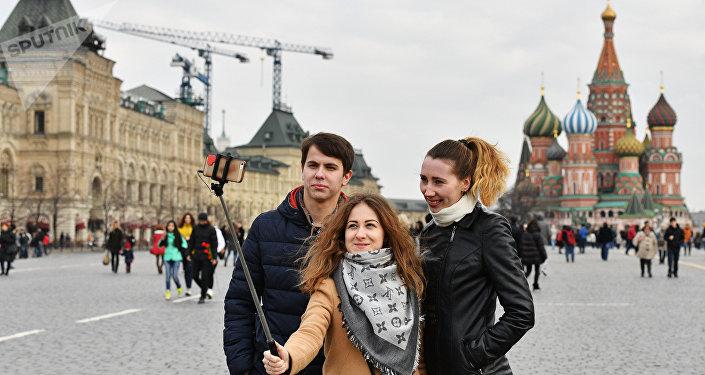 Turyści na Placu Czerwonym