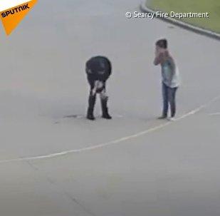 Strażak uratował dziecko