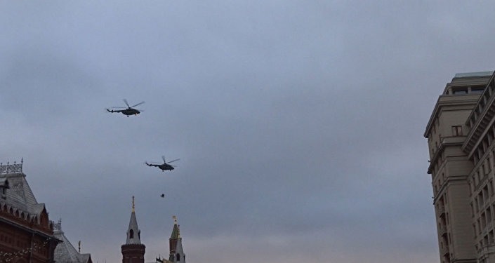 Helikoptery nad Moskwą