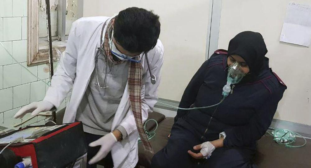 Ofiara ataku chemicznego w Aleppo