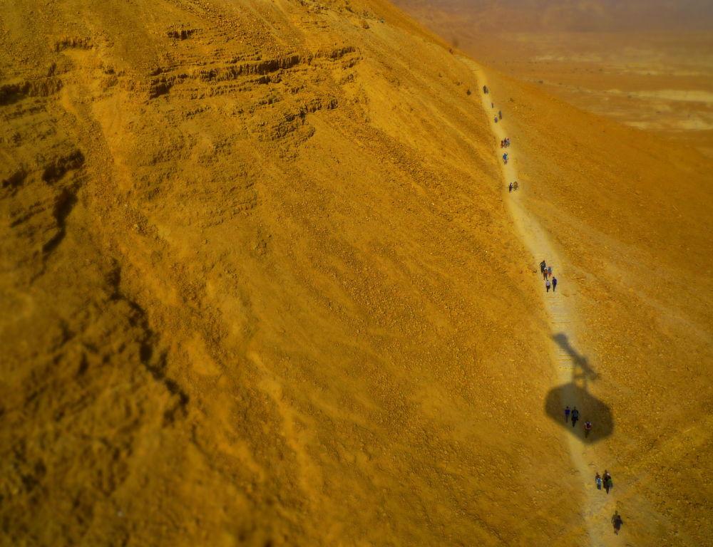 Kolejka linowa do twierdzy Masada w Izraelu